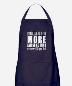 Brazilian Jiu-Jitsu More Awesome Mart Apron (dark)