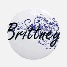 Brittney Artistic Name Design with Round Ornament