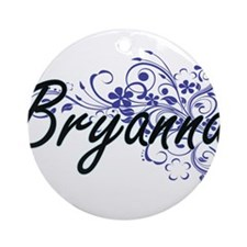 Bryanna Artistic Name Design with F Round Ornament