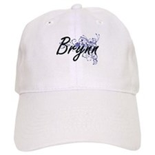 Brynn Artistic Name Design with Flowers Baseball Cap
