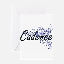 Cadence Artistic Name Design with F Greeting Cards