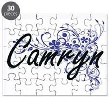 Camryn Artistic Name Design with Flowers Puzzle