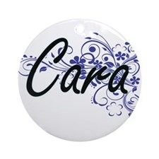 Cara Artistic Name Design with Flow Round Ornament