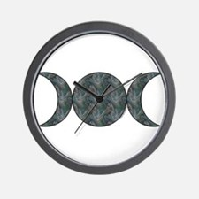 Triple Moon Wall Clock - Brocade