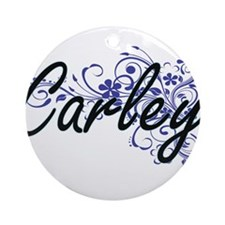 Carley Artistic Name Design with Fl Round Ornament