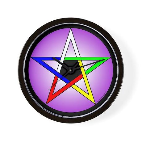 5 Elements Pentacle Wall Clock
