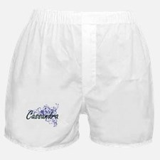 Cassandra Artistic Name Design with F Boxer Shorts