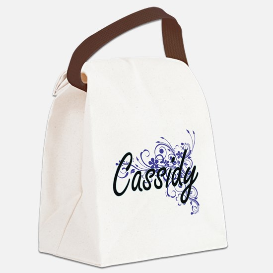 Cassidy Artistic Name Design with Canvas Lunch Bag