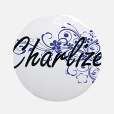 Charlize Artistic Name Design with Round Ornament