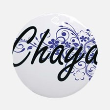 Chaya Artistic Name Design with Flo Round Ornament