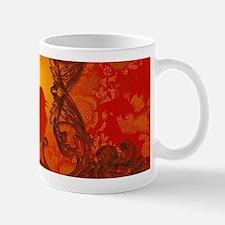 Beautiful red bird silhouette Mugs