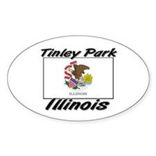Tinley Park Illinois Oval Decal