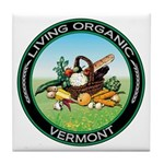 Living Organic Vermont Tile Coaster