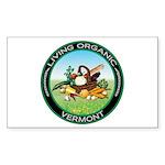 Living Organic Vermont Rectangle Sticker