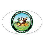 Living Organic Vermont Oval Sticker