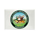 Living Organic Vermont Rectangle Magnet (100 pack)