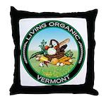 Living Organic Vermont Throw Pillow