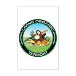 Living Organic Vermont Mini Poster Print