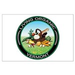 Living Organic Vermont Large Poster