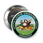 Living Organic Vermont Button