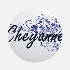 Cheyanne Artistic Name Design with Round Ornament