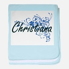 Christiana Artistic Name Design with baby blanket