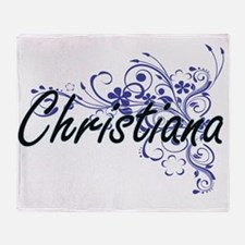 Christiana Artistic Name Design with Throw Blanket