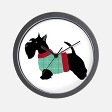 Scottie In Sweater Wall Clock