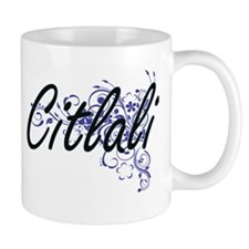 Citlali Artistic Name Design with Flowers Mugs