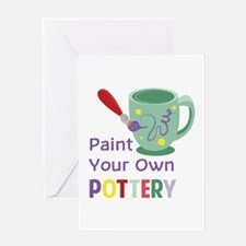Paint Pottery Greeting Cards