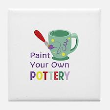 Paint Pottery Tile Coaster