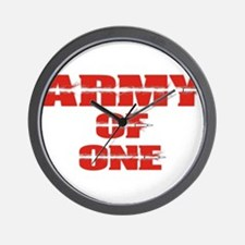 army of one Wall Clock