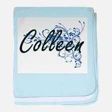 Colleen Artistic Name Design with Flo baby blanket