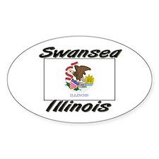 Swansea Illinois Oval Decal