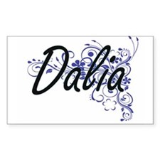 Dalia Artistic Name Design with Flowers Decal