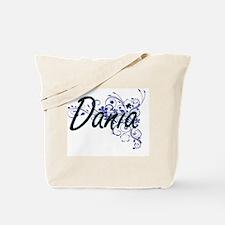 Dania Artistic Name Design with Flowers Tote Bag