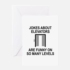 Jokes About Elevators Greeting Card