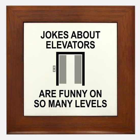 Jokes About Elevators Framed Tile