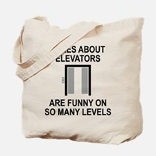 Jokes About Elevators Tote Bag