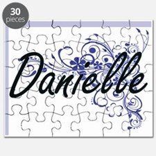 Danielle Artistic Name Design with Flowers Puzzle