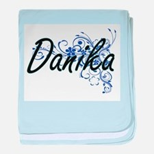 Danika Artistic Name Design with Flow baby blanket