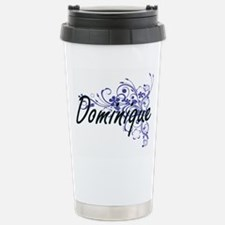Dominique Artistic Name Stainless Steel Travel Mug