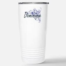 Dominique Artistic Name Travel Mug