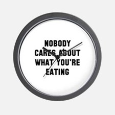 Nobody Cares Wall Clock