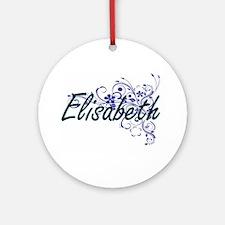 Elisabeth Artistic Name Design with Round Ornament