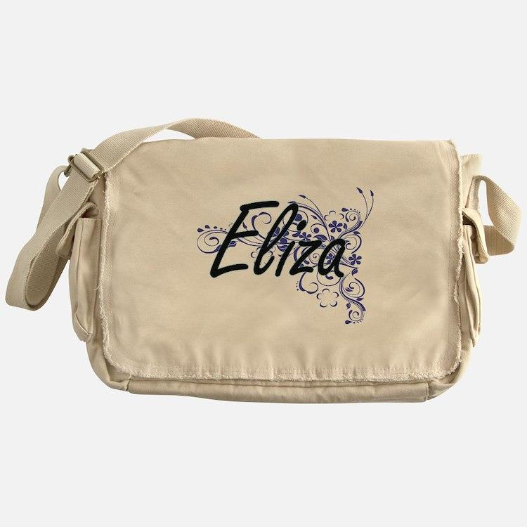 Eliza Artistic Name Design with Flow Messenger Bag