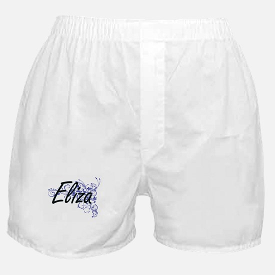 Eliza Artistic Name Design with Flowe Boxer Shorts