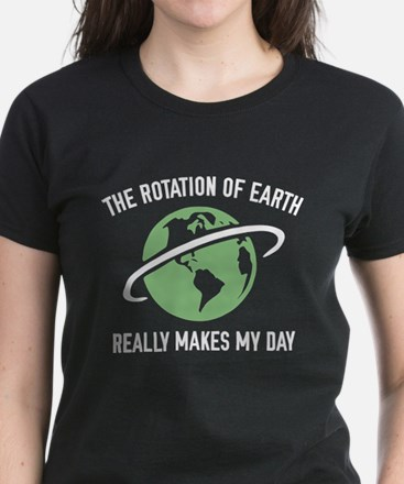 The Rotation Of The Earth Women's Dark T-Shirt