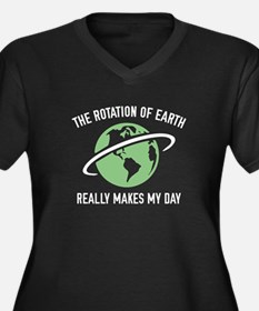 The Rotation Of The Earth Women's Plus Size V-Neck