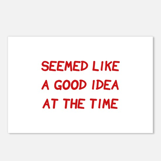 Good Idea At The Time Postcards (Package of 8)